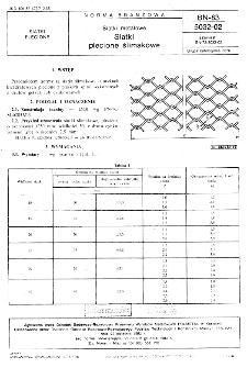 Siatki metalowe - Siatki plecione ślimakowe BN-83/5032-02