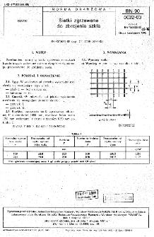 Siatki zgrzewane do zbrojenia szkła BN-90/5032-03