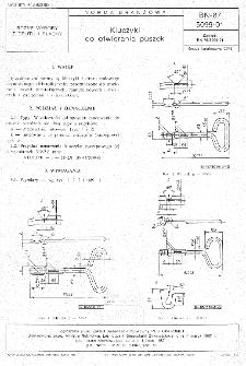 Kluczyki do otwierania puszek BN-87/5099-01