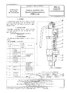 Armatura napełnialni tlenu - Zawór bezpieczeństwa ZTB-6/160 BN-76/4128-03
