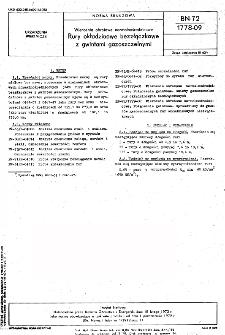 Wiercenia obrotowe normalnośrednicowe - Rury okładzinowe bezzłączkowe z gwintami gazoszczelnymi BN-72/1778-09