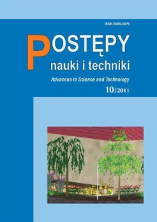 Postępy Nauki i Techniki = Advances in Science and Technology 10/2011