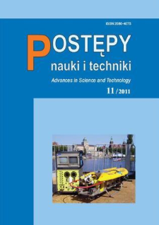 Postępy Nauki i Techniki = Advances in Science and Technology 11/2011