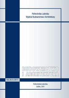 Budownictwo i Architektura Vol. 8(1)2011