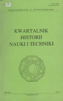 Kwartalnik Historii Nauki i Techniki R. 42 nr 3-4/1997