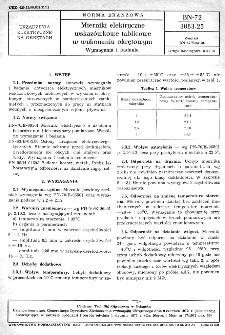 Mierniki elektryczne wskazówkowe tablicowe w wykonaniu okrętowym - Wymagania i badania BN-72/3083-25