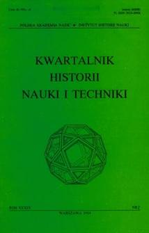 Kwartalnik Historii Nauki i Techniki R. 39 nr 2/1994