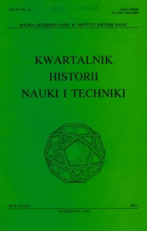 Kwartalnik Historii Nauki i Techniki R. 39 nr 1/1994