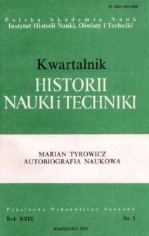 Kwartalnik Historii Nauki i Techniki R. 34 nr 3/1989