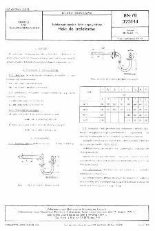 Telekomunikacyjne linie napowietrzne - Haki do izolatorów BN-78/3231-14