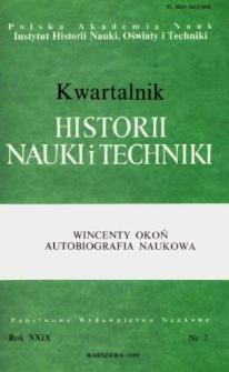 Kwartalnik Historii Nauki i Techniki R. 34 nr 2/1989