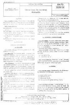 Telekomunikacyjne linie napowietrzne - Motowidło BN-70/3238-06