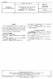 Telekomunikacyjne linie napowietrzne i kablowe sieci miejscowe - Szablony do znakowania BN-73/3238-08