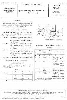 Sprawdziany do kanalizacji kablowej BN-76/3238-12
