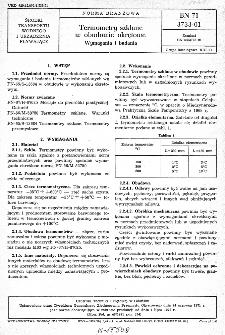 Termometry szklane w obudowie okrętowej - Wymagania i badania BN-71/3733-01