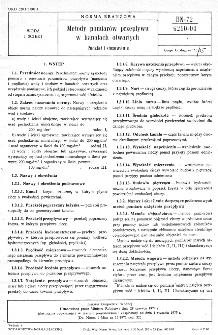 Metody pomiarów przepływu w kanałach otwartych - Podział i stosowanie BN-72/6210-04