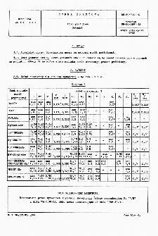 Stal próżniowa - Gatunki BN-87/0631-12