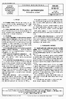 Wyroby garmażeryjne - Pobieranie próbek BN-85/8150-01