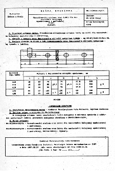 Kształtowniki stalowe oraz łubki dla nawierzchni kolejowej wąskotorowej i pośredniej - Łubki - Wymiary BN-87/0644-23/03