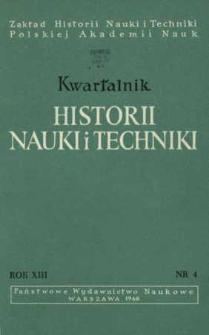 Kwartalnik Historii Nauki i Techniki R. 13 nr 4/1968