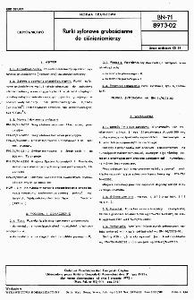 Rurki syfonowe grubościenne do ciśnieniomierzy BN-71/8973-02
