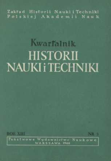 Kwartalnik Historii Nauki i Techniki R. 13 nr 3/1968