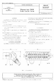 Głowice typu GKM - Wspólne wymagania i badania BN-69/3233-07