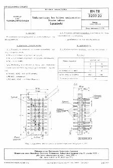 Telekomunikacyjne linie kablowe międzymiastowe - Głowice kablowe - Łączówki BN-78/3233-22