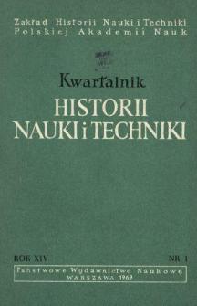 Kwartalnik Historii Nauki i Techniki R. 14 nr 1/1969