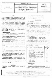 Telekomunikacyjne linie napowietrzne - Urządzenia ochrony odgromowej konstrukcji wsporczych - Przepisy budowy BN-75/8984-03