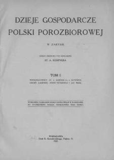 Dzieje gospodarcze Polski porozbiorowej w zarysie : dzieło zbiorowe. T. 1