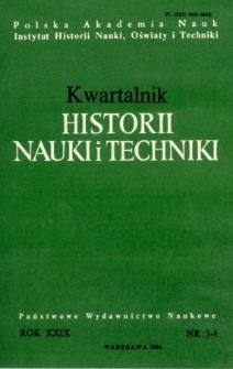 Kwartalnik Historii Nauki i Techniki R. 29 nr 3-4/1984