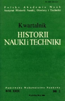 Kwartalnik Historii Nauki i Techniki R. 29 nr 2/1984