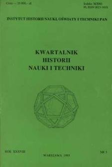 Kwartalnik Historii Nauki i Techniki R. 38 nr 3/1993