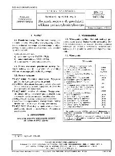 Substancje specjalne czyste - Rodanek sodowy do produkcji włókna poliakrylonitrylowego BN-72/6195-04