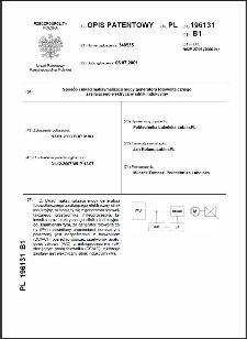 Sposób i układ maksymalizacji mocy generatora fotowoltaicznego zasilającego elektryczny silnik indukcyjny : opis patentowy nr 196131
