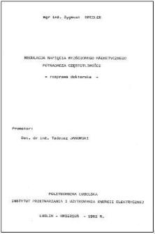 Regulacja napięcia wyjściowego magnetycznego potrajacza częstotliwości : rozprawa doktorska
