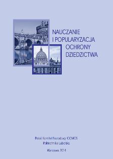 Nauczanie i popularyzacja ochrony dziedzictwa