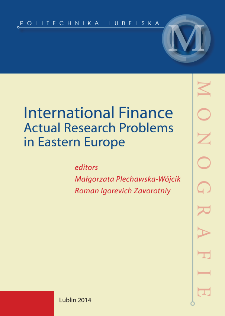 International finance : actual research problems in Eastern Europe