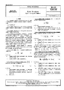 Kubki ferrytowe - Ogólne wymagania i badania BN-69/3286-08