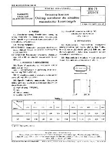 Rezonatory kwarcowe - Osłony metalowe do obudów rezonatorów kwarcowych BN-71/3312-01