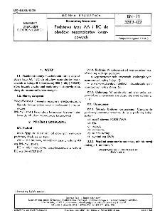 Rezonatory kwarcowe - Podstawy typu AA i BC do obudów rezonatorów kwarcowych BN-71/3312-02