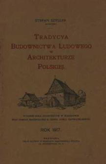 Tradycja budownictwa ludowego w architekturze polskiej