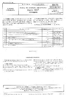 Kaoliny dla przemysłu papierniczego - Kaolin KOP - Wymagania BN-73/7011-02/101