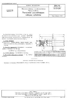 Wiercenia obrotowe normalnośrednicowe - Pompy płuczkowe - Pierścienie uszczelniające nakrywy cylindrów BN-70/1771-09