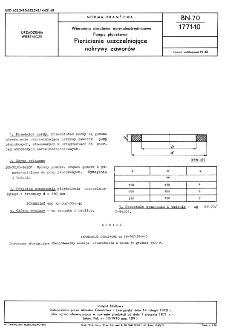 Wiercenia obrotowe normalnośrednicowe - Pompy płuczkowe - Pierścienie uszczelniające nakrywy zaworów BN-70/1771-10