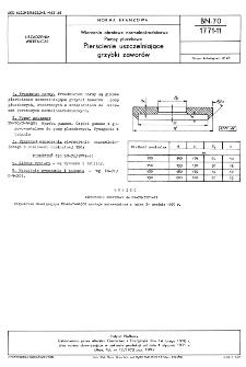 Wiercenia obrotowe normalnośrednicowe - Pompy płuczkowe - Pierścienie uszczelniające grzybki zaworów BN-70/1771-11