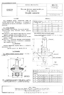 Wiercenia obrotowe normalnośrednicowe - Pompy płuczkowe - Grzybki zaworów BN-70/1771-12