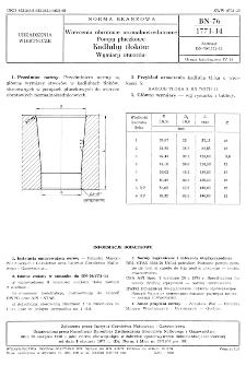 Wiercenia obrotowe normalnośrednicowe - Pompy płuczkowe - Kadłuby tłoków - Wymiary otworów BN-76/1771-14