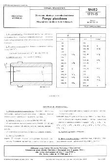 Wiercenia obrotowe normalnośrednicowe - Pompy płuczkowe - Wewnętrzne średnice tulei tłokowych BN-82/1771-15